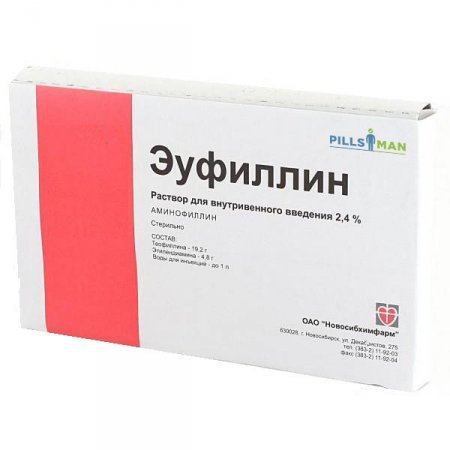 Еуфиллин - инструкция по применению и цена