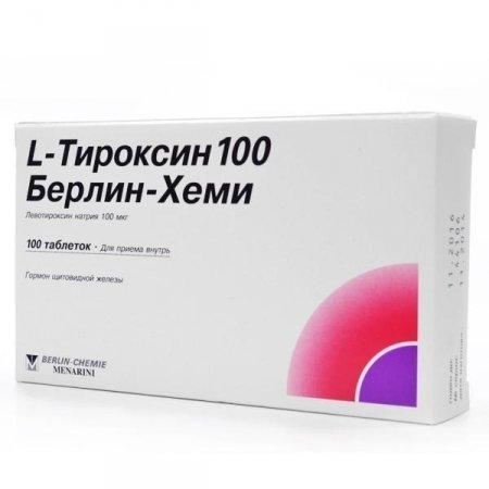 Фото препарата L-Тироксин 100 Берлин-Хеми