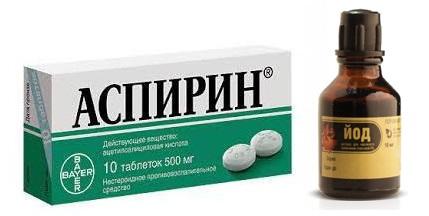 Лечение косточек на ногах йодом и аспирином отзывы