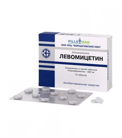 Фото препарата Левомицетин