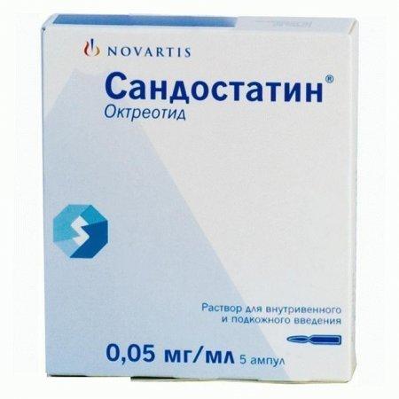 Фото препарата Сандостатин