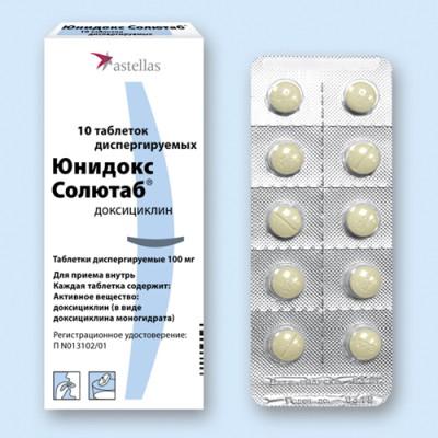 Юнидокс это антибиотик