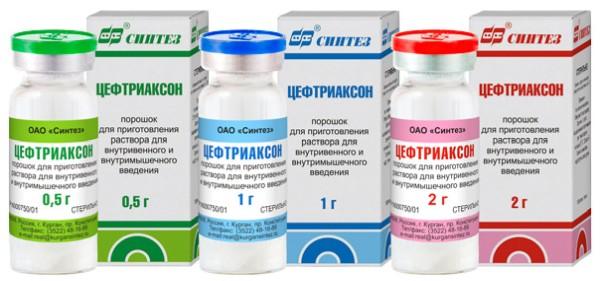 Антибиотик цефтриаксон для детей уколы