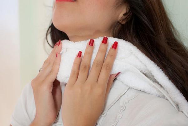 Компресс с димексидом при боли в горле